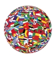 globe with world flags vector image vector image