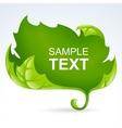 green leaf frame spring background vector image vector image