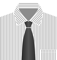 Grey Tone Shirt And Tie vector image vector image
