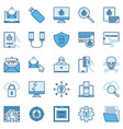 hacking or hacker colored icons computer vector image