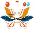 happy brazilian carnival day creative carnival vector image vector image