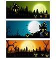 happy halloween banners vector image vector image