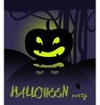 Happy Halloween card with pumpkin vector image vector image