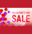 happy valentines day sale banner with red and vector image