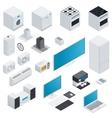 Household appliances isometric set vector image vector image