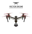 isolated flying drone with camera and vector image