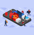 isometric conversion vector image vector image