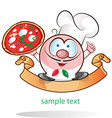 italian chef cartoon vector image vector image