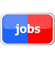 jobs word on web button icon isolated on vector image vector image