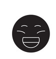 laughing emoji black concept icon laughing vector image vector image