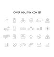 line icons set power industry pack vector image vector image