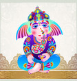 lord ganesha on light gold luxury background vector image vector image