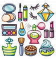 Makeup icon set vector image