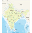 map india with biggest cities and rivers vector image vector image