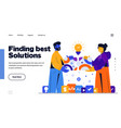 modern flat design finding best solutions vector image