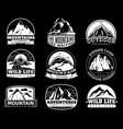 mountain emblems mountaineering camp vector image