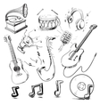 Musical instruments and icons collection vector image