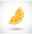 orange segment flat icon vector image