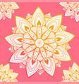ornamental seamless pattern with mandala vintage vector image