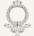 Ornate Wreath Frame vector image vector image