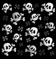 pirate skulls and bones vector image