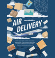 post air mail delivery service vector image vector image