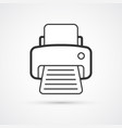 printer flat line trendy icon eps10 vector image vector image