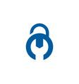 repair security logo icon design vector image