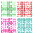 seamless geometric line pattern in japanese style vector image vector image