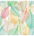 Seamless pattern colorful leaves