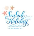 seaside holidays logo vector image vector image