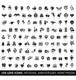 Set love icons vector image vector image