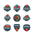 set of american football logos sport emblems vector image vector image