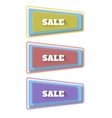 Set of transparent geometric banners on the vector image vector image