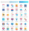 set trendy flat gradient data science vector image vector image