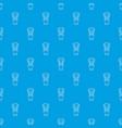 shaving brush pattern seamless blue vector image vector image