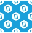 Smartphone hexagon pattern vector image