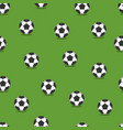 soccer balls seamless background vector image vector image