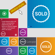 Sold icon sign buttons Modern interface website vector image vector image