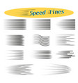 speed lines design elements for manga and comics vector image vector image