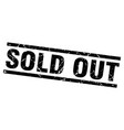 square grunge black sold out stamp vector image vector image