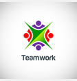 teamwork colored logo vector image