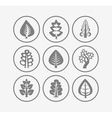 Trees icons on white background vector image vector image