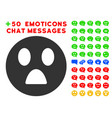 wonder smiley icon with bonus avatar collection vector image