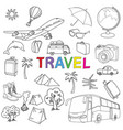 world travel set vector image