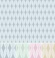 Vintage victorian seamless pattern set vector image