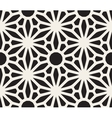 Seamless Black and White Lace Floral vector image