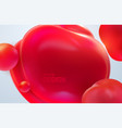 abstract background with dynamic 3d bubbles vector image vector image