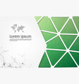 abstract green geometric design template with vector image