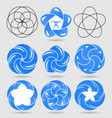 abstract logo templates set the concept of water vector image vector image